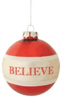 believe christmas tree ornament traditional