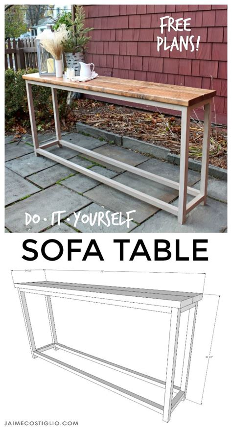 free sofa table plans diy furniture diy sofa table free plans diy loop