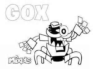 mixels coloring pages mixels coloring page gox eric s activity pages