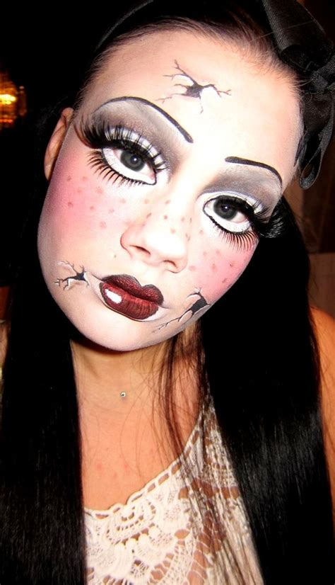 tutorial makeup doll broken doll makeup no tutorial but click thru for more