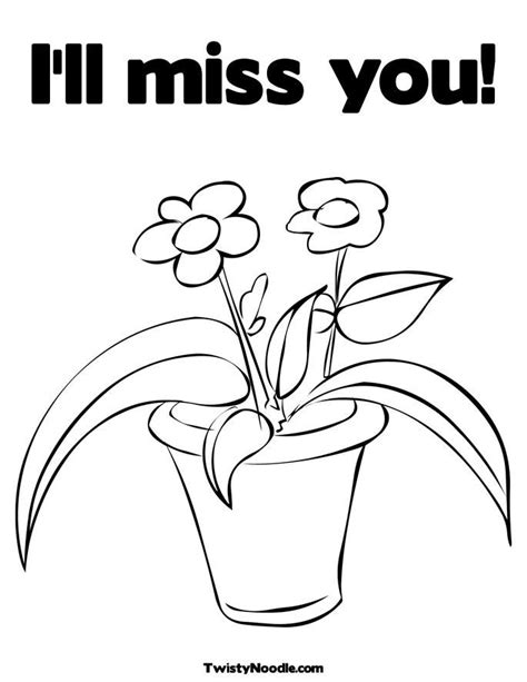 we will miss you coloring pages coloring home