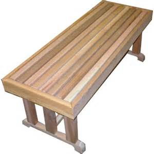 Cedar Bench 18 Quot X 48 Quot Freestanding Cedar Bench No Visible Fasteners