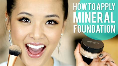 how to apply matte foundation how to apply mineral foundation bareminerals