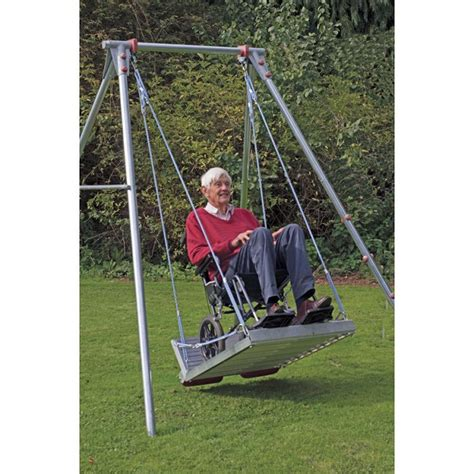 Handicap Swing by Wheelchair Platform Swing With Frame Free Shipping