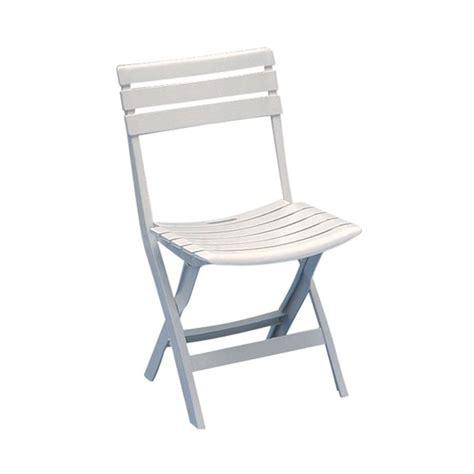 chaise de jardin pliante birki blanc 862739