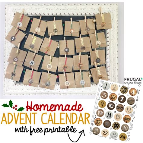 printable homemade advent calendar free advent calendar stickers printable