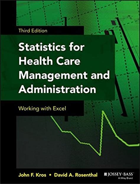 management and administration books statistics for health care management and administration