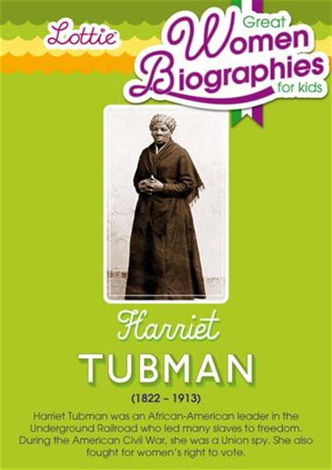 harriet tubman children s biography harriet tubman biography for kids lottie dolls
