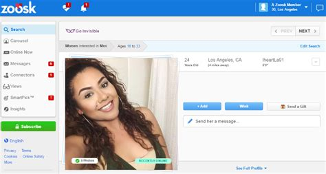 Zoosk Search Zoosk Review Prices Features List Zoosk Detailed Information