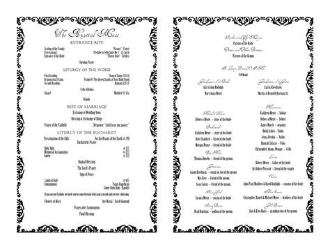 Sle Wedding Invitation Script by Wedding Ceremony Program Script Wedding Ideas 2018
