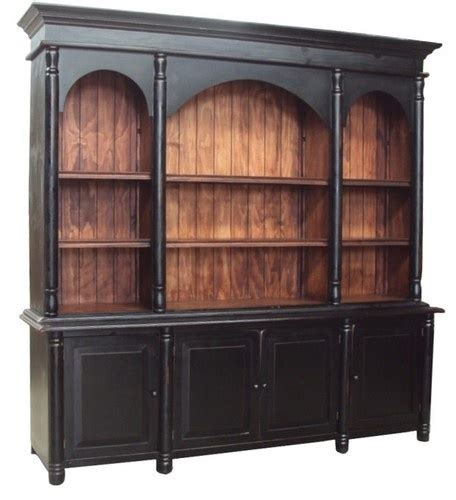 library bookcase wall unit restoration hardware black distressed library wall unit hand made restoration