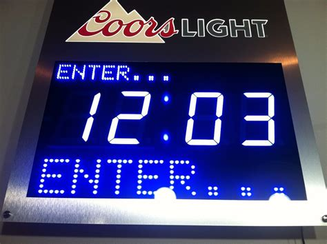 coors light costco price coors light beer digital clock countdown led motion