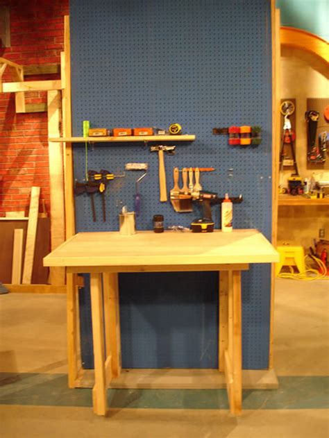 fold down work bench how to make a fold down workbench how tos diy