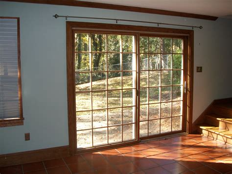 Patio Door Framing White Wooden Glass Door Frames For Patio Door And Exposed Brick Wall Panel