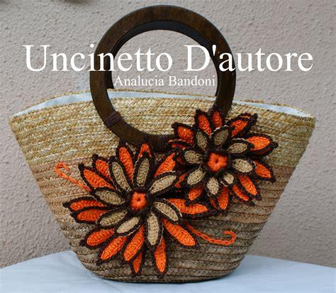 borse con fiori borsa in paglia con fiori in rafia fodera a sacchetto