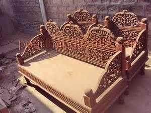 Traditional Wooden Sofa Set Designs Sheesham Rose Wood Carved Sofa Set 171 Traditional Living