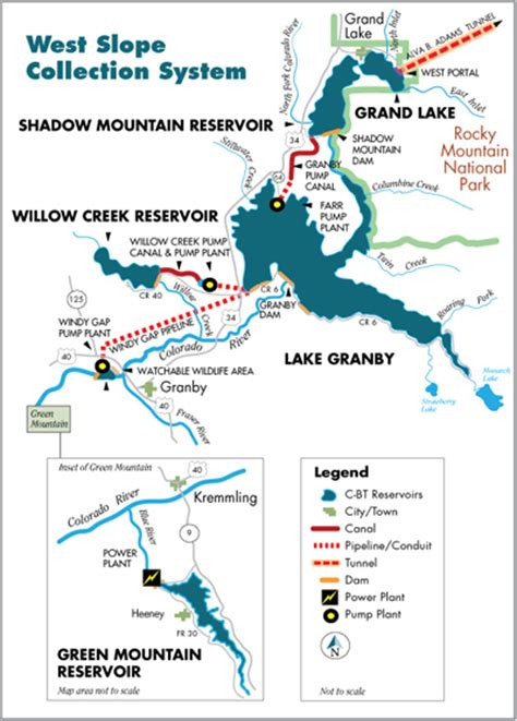 map of granby colorado northern water lake granby