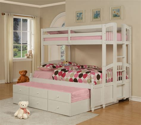 three level bunk bed three level bunk bed bathroom kids room white bunk bed