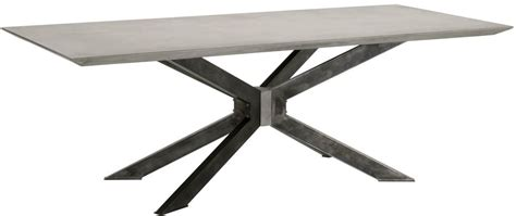 gray rectangle dining table district gray and black industry rectangle dining table