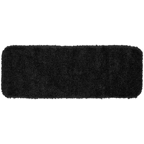 black washable rugs serendipity black 22 in x 60 in washable bathroom accent ruggarland rug 203181332