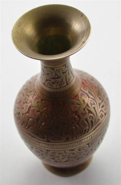 Brass Vases From India by Decorative 5 Quot Brass Vase From India