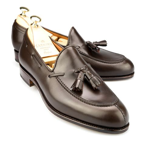 loafers image tassel brown calf dress loafers carmina shoemaker