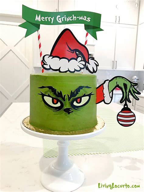 grinch pinterest kids party ideas the grinch cake merry grinch cake topper
