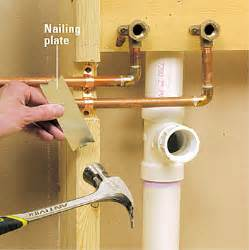 How To Install A Bathtub Faucet Running Copper Supply Lines How To Install A New