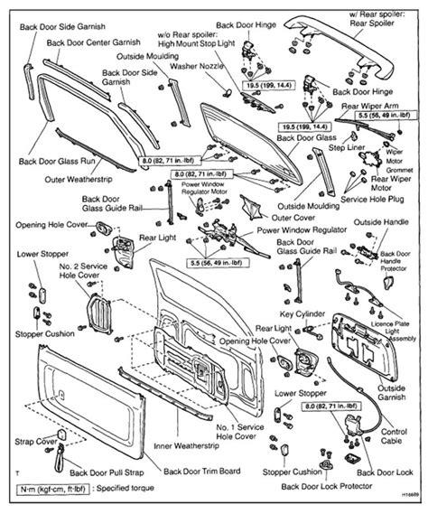 toyota parts diagram backddor 2002 toyota sequoia parts diagram toyota auto