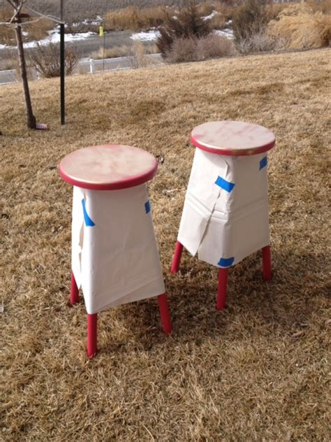 Spray Paint Bar Stools by Gold Dipped Bar Stools
