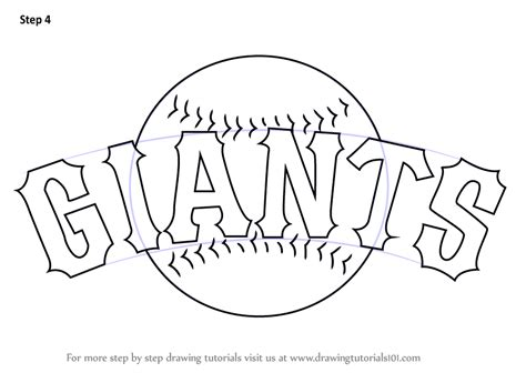 step by step how to draw san francisco giants logo