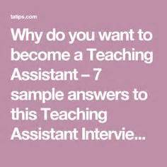 teaching assistant questions snagajob