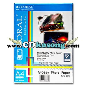 Glossy Photo Paper 210g Coral jual glossy photo paper coral