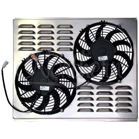dual electric fans with shroud northern factory dual 10 quot electric fan shroud 17 1 4