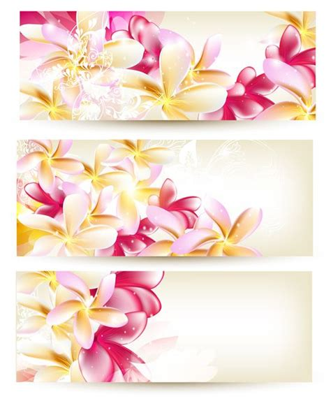 Pink Vector Flower Banners Templates Free Vectors Vector Flowers Flowers Banner Flower Banner Template