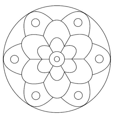 imagenes de mandalas faciles para colorear 196 dibujos de mandalas para colorear f 225 ciles y dif 237 ciles