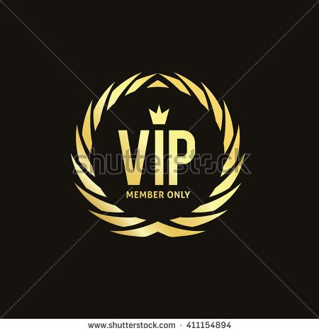 Vip Logo Template Vip Club Crest Stock Vector 411154894 Shutterstock Nightclub Logo Template