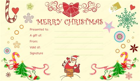 awesome christmas gift certificate templates