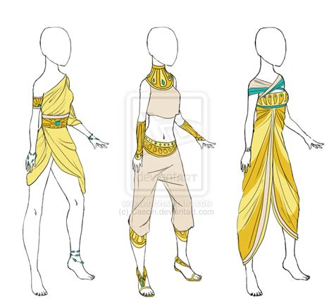 egyptian pattern clothes egyptian clothes adoptable 1 open by caecin on deviantart