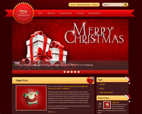 wordpress themes free holiday christmas wordpress themes 2017 free premium templates