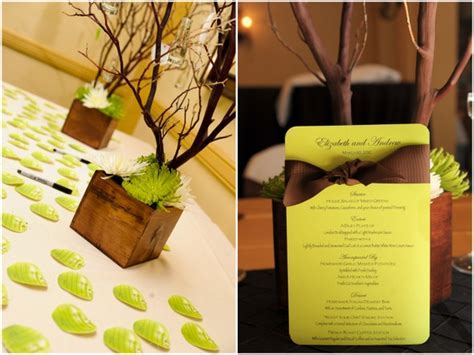Chocolate Brown and Apple Green Wedding