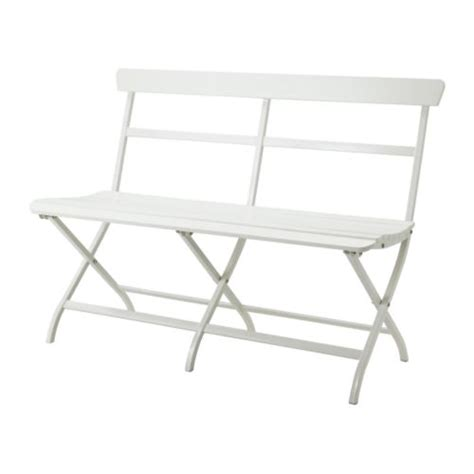 garden bench ikea white powder coated steel ikea folding malaro outdoor