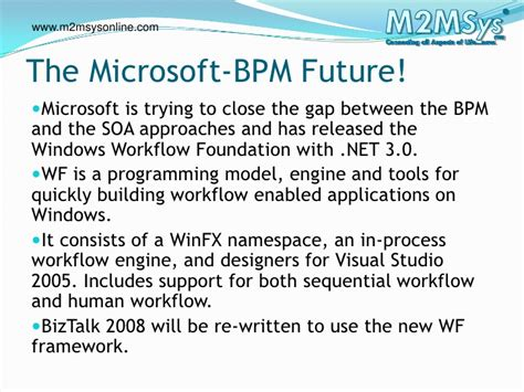 windows workflow foundation future the microsoft bpm platform