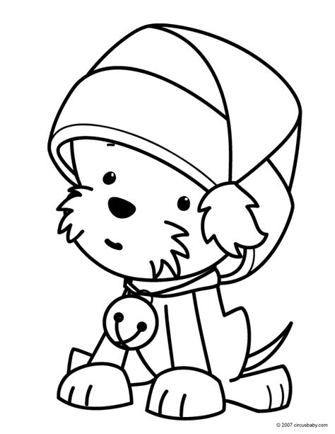 Christmas Puppy Coloring Pages Puppy Coloring Pages