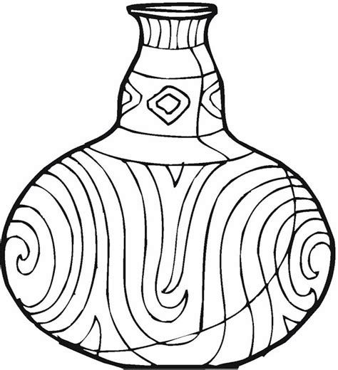 Vase Coloring Page by 5 Flowers In Vase Coloring Sheet Coloring Pages