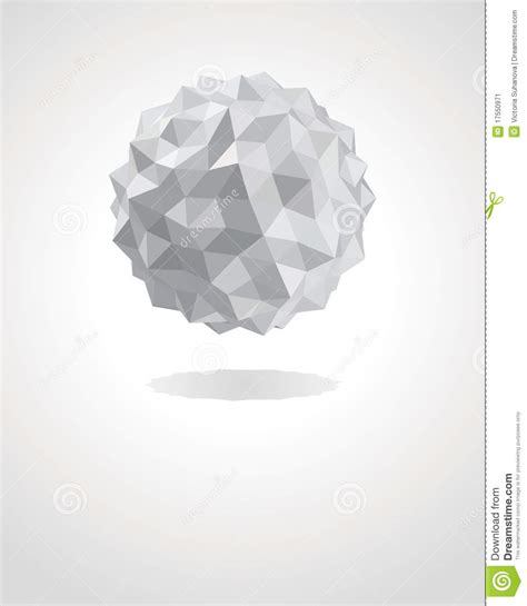 How To Make A 3d Sphere With Paper - abstract 3d origami paper sphere stock vector image