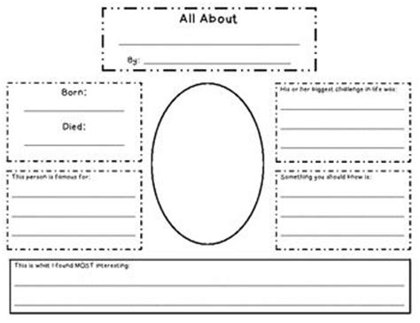 biography graphic organizer 1st grade this is a great graphic organizer for a biography research