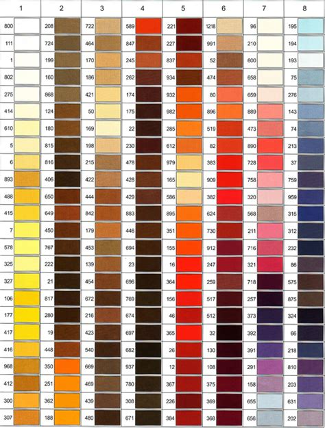color shade gutermann color shade card