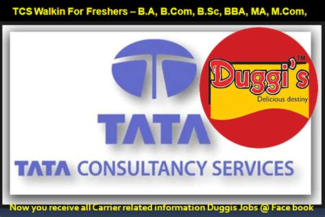 Tata Consultancy Services Careers Mba by Duggis Tata Consultancy Services Walkin For Freshers
