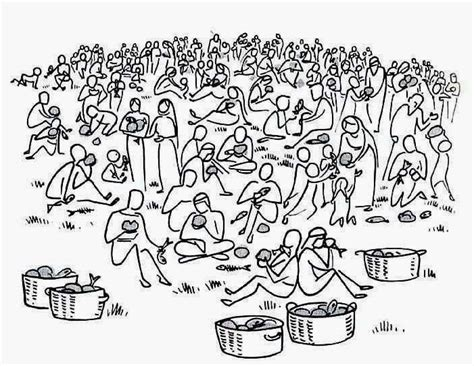 Bible Coloring Page Feeding 5000 by Fleshing Out Two Principles For Disciples Living